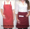 spun polyester bib and bistro aprons with two pockets