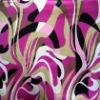 stretch print satin fabric