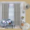 stripe embroidery grommet panel curtain