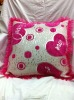 suqare polyester handmade pillow cover