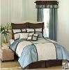 taffeta patchwork pleat bedspread