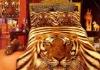 tiger picture reactive print bedding sets