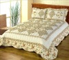 traditional quilted cotton print bedspread/patchwork quilt