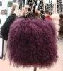 trendy noble sheep fur shoulder bag