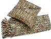 tweed cushion pillow