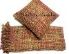 tweed throw with cushion