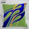 two kinds of irregular curve intertwined design green flax sofa cushion