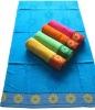 velvet cotton beach towel with border