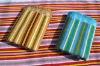 velvet pile plain dyed stripe set of towels