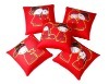 wedding Pillow( red suqare wedding cushion)