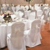 wedding banquet chair cover with sash,polyester chair cover