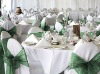 wedding chair cover and organza sash (X-4028)