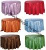 wedding pintuck tablecloth and taffeta table linens