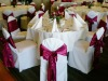 wedding polyester table linens and banquet chair covers
