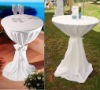 white garden jersey scuba cocktail table cover bsitro table cover dry bar table cover for wedding and party 62cm diameter145cm H
