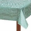 white green check tablecloth