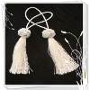 white polyester make decorative tassels for curtain