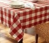 white red check tablecloth