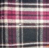 winter autumn polyester wool acrylic fabrics in plaid design