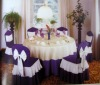 with bowknot chair cover