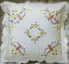 with lace of chair embrodered cushion