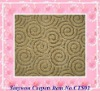 woven carpet with hand carved patterns