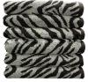 yarn dyed animal print bath towels