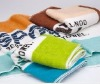 yarn dyed cotton printed bath towel