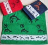 yarn dyed jacquard bath towel with border