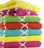 yarn dyed jacquard cotton bath towel set