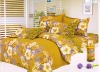 yellow twill polyester bedding set