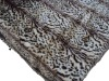 zebra fox fur blanket